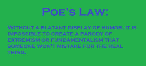 the definition poe s law know your meme