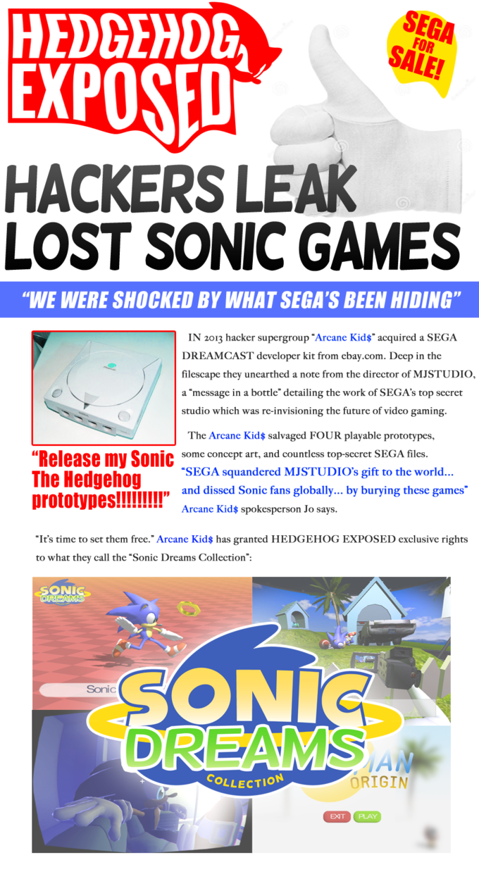 Sonic Dreams Collection | Know Your Meme