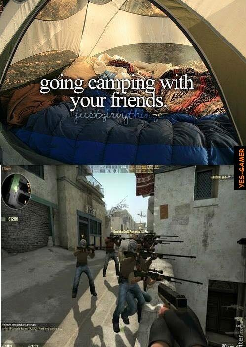 going camping with your friends just little things know your meme