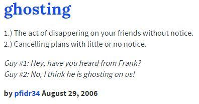 ghost dating urban dictionary