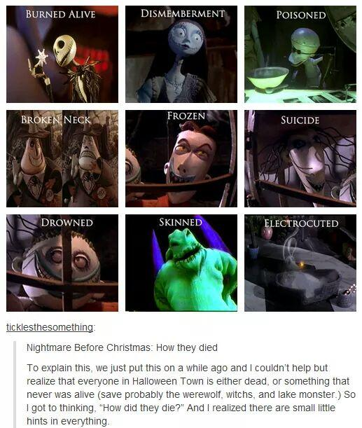 Nightmare Before Christmas Memes.Nightmare Before Christmas How They Died The Nightmare
