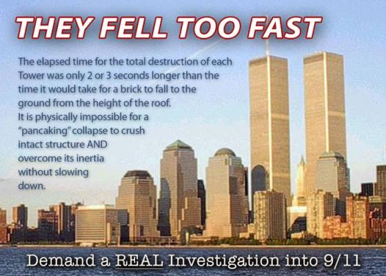 THEY FELL TOO FAST The Elapsed Time For Total Destruction Of Each Tower Was Only