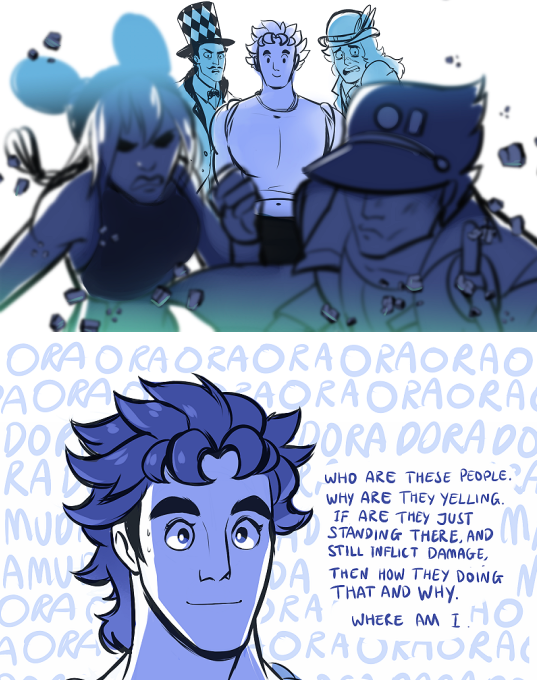 EoH, in which Jonathan… can't actually see what's going on | JoJo's