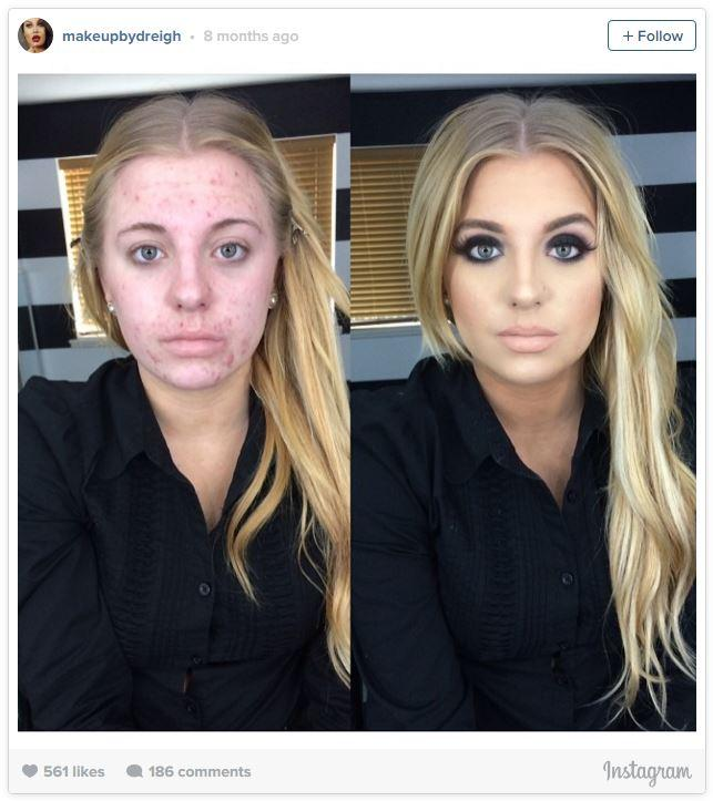 Ashley VanPevenage's Makeup Transformation Photo | Know Your Meme