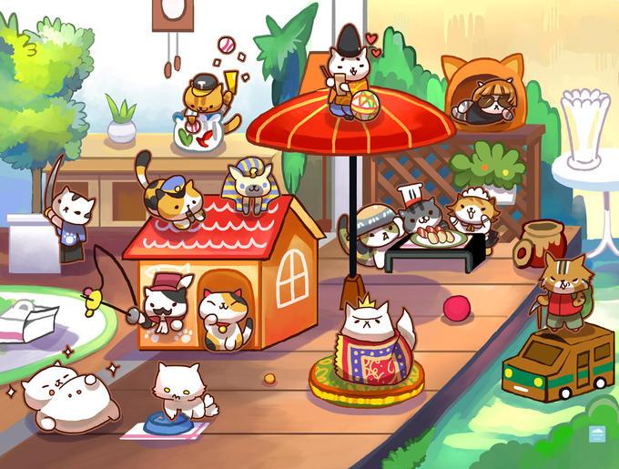 Neko Atsume Cat Cartoon