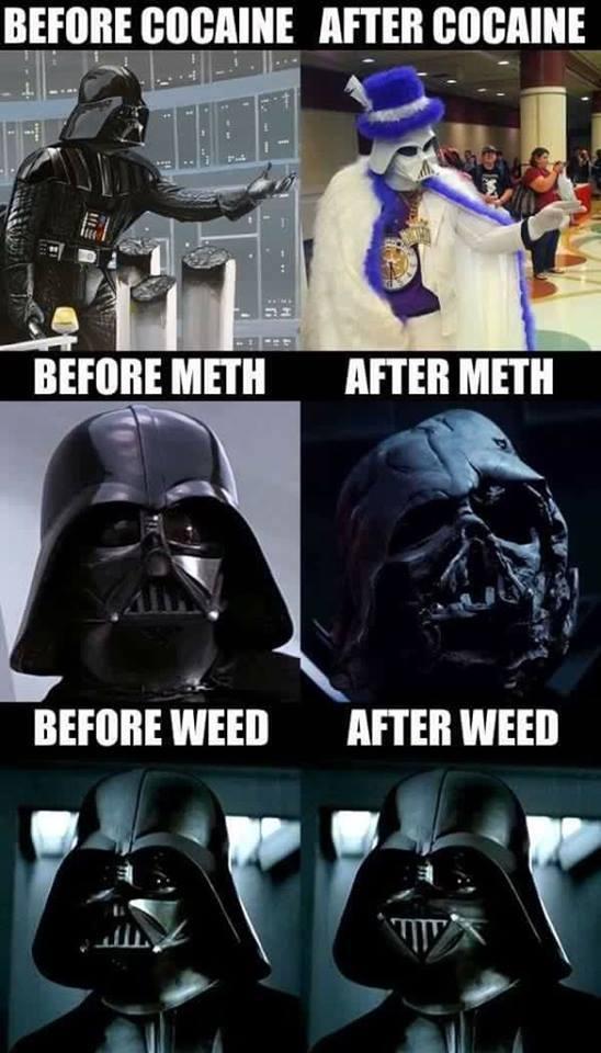 Darth Vader On Drugs Star Wars Know Your Meme