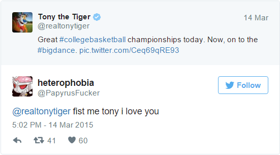 Image result for tony the tiger tweets