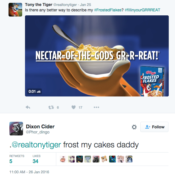 Tony the tiger twitter furries sexual orientation