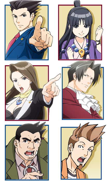 Character Portraits From The Upcoming Ace Attorney Anime Phoenix