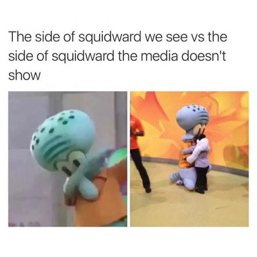 The Two Faces Of Dabbing Squidward Squidward Dab Know Your Meme
