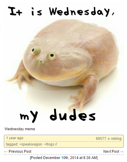 It Is Wednesday My Dudes | Know Your Meme
