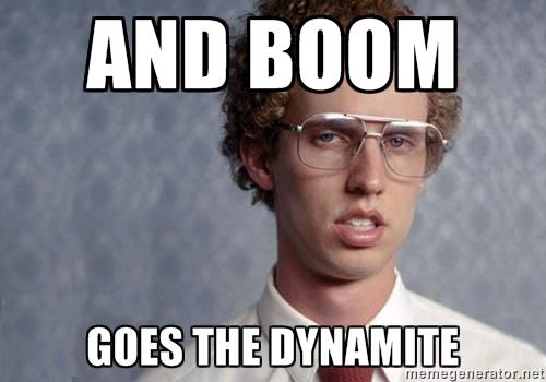 Image result for boom goes the dynamite gif
