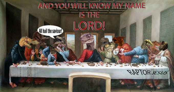 raptor jesus know your meme