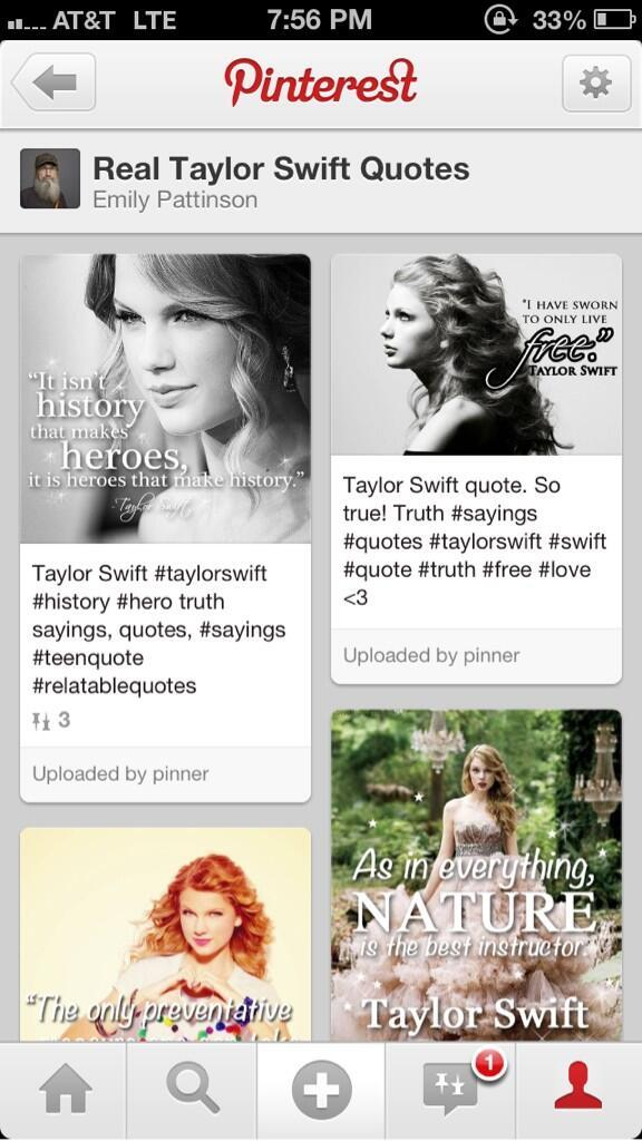 f51edf318 Real Taylor Swift Quotes Pinterest Page | Taylor Swift | Know Your Meme