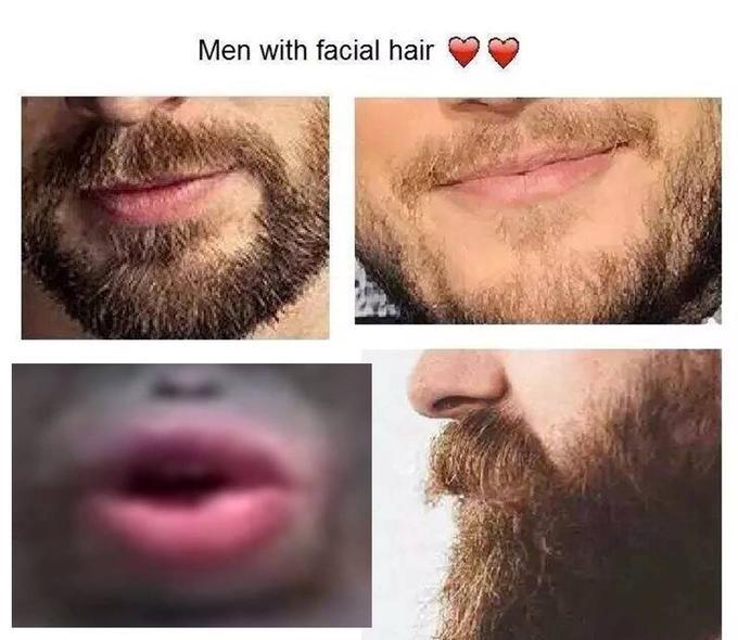 Men with facial hair facial hair hair beard eyebrow lip chin nose forehead cheek jaw moustache