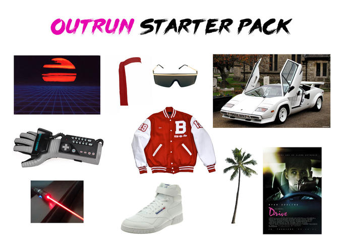 OUTRUN STARTER PACK 8602 AHX Sam R YANG 0SL ING rive THE ATERS Far Cry 3: Blood Dragon product motor vehicle automotive design technology