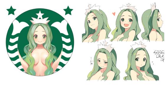 Starbucks Version Anime Gijinka Moe Anthropomorphism