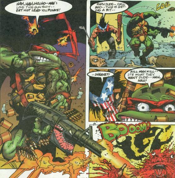 Raph with a machine gun   Teenage Mutant Ninja Turtles