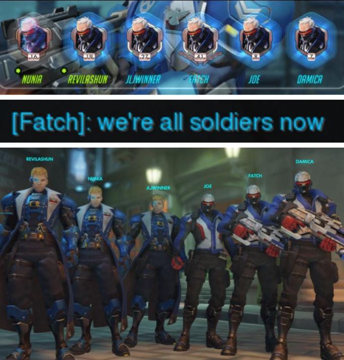НУНИЯ РЕВИЛАШУН ИЛЬВИННЕР ХЭ ДЖО АМИКА [Fatch]: мы все солдаты novw РЕВИЛАШУН ДАМИКА ФАТЧ ДЖО Overwatch Team Fortress 2 игры компьютерная игра военная организация