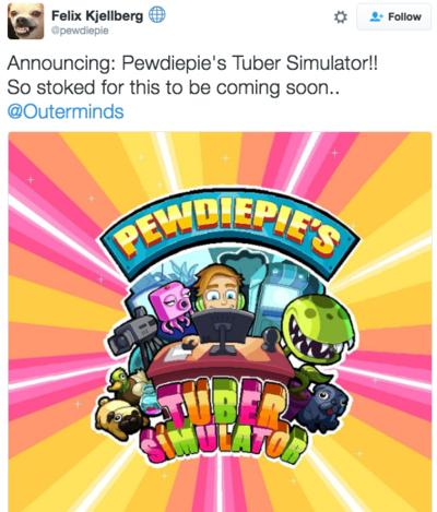 tuber simulator announcement pewdiepie know your meme