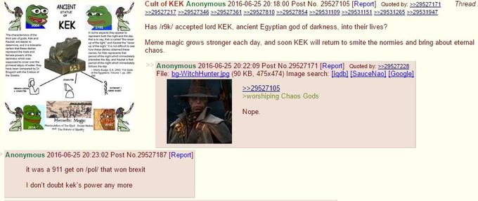 Cult of Kek | Know Your Meme