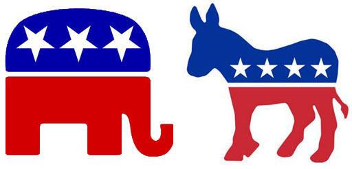 united states republican elephant and democratic donkey politics