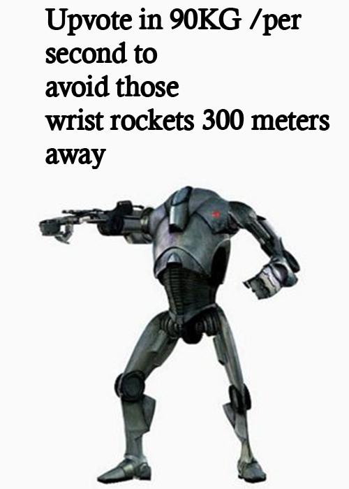 Upvote In 19kg Per Second Watch Those Wrist Rockets Know Your Meme