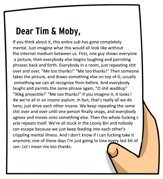 dear tim and moby the meme renaissance of me irl the great meme