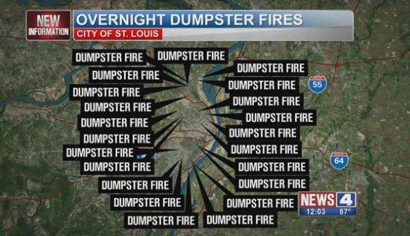 photoshopped st louis weather map dumpster fire know your meme