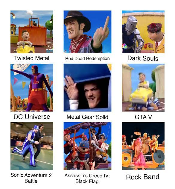 Lazy Town Comparision Chart Lazytown Know Your Meme
