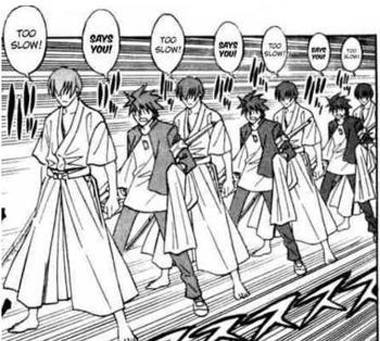 TOO SLOW! SAYS YOU TOO Minato Namikaze clothing cartoon black and white text history