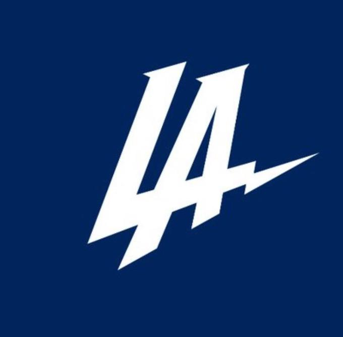 85069b41d Los Angeles Chargers Los Angeles 2017 NFL season Los Angeles Rams blue text  font logo