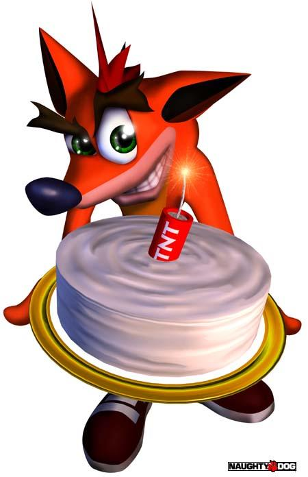 """Képtalálat a következőre: """"crash bandicoot cake naughty dog"""""""