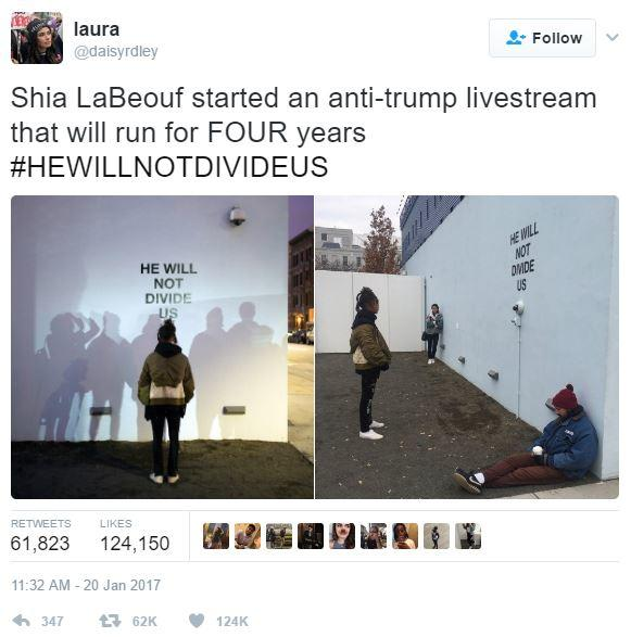 he will not divide us live