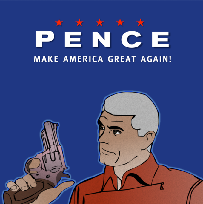 Image result for mike pence caricature