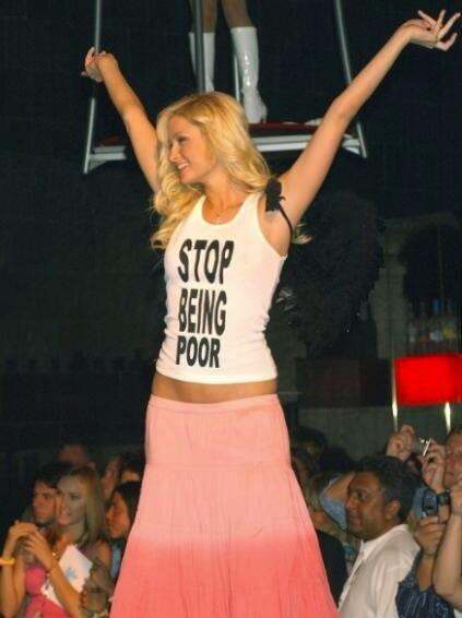 Resultado de imagen de don't be poor shirt
