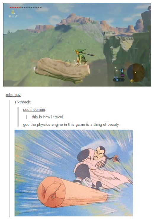 Link uses Dragonball's physics  It's quite effective  | The