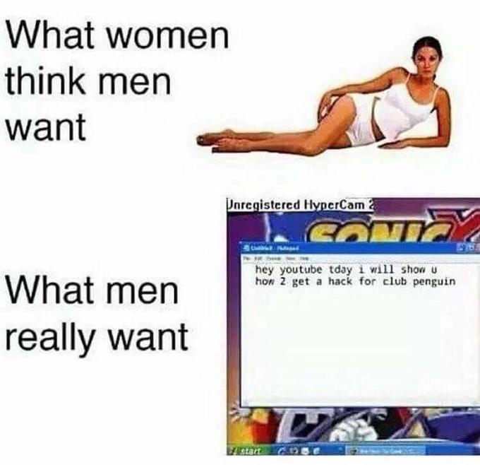 what women think men want vs what men really want unregistered