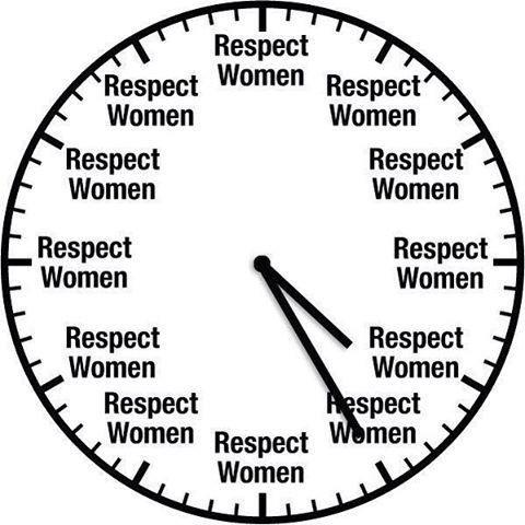 good heavens look at the time respect women know your meme