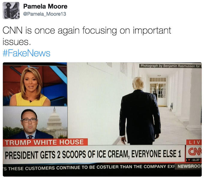 president gets two scoops of ice cream