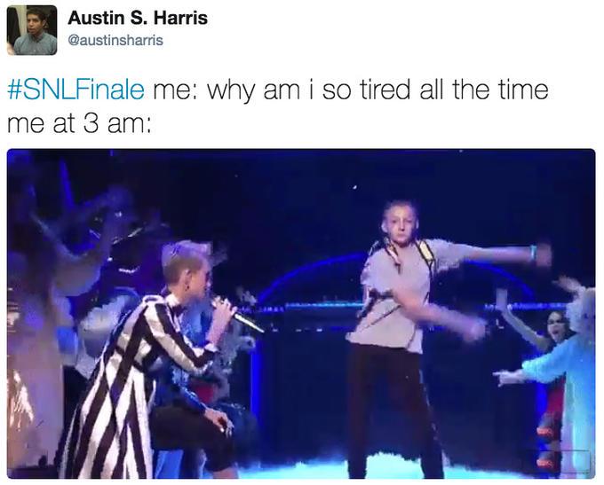 Austin S. Harris  austinsharris  SNLFinale me  Why am i so tired all 2fcb12d61fa8d