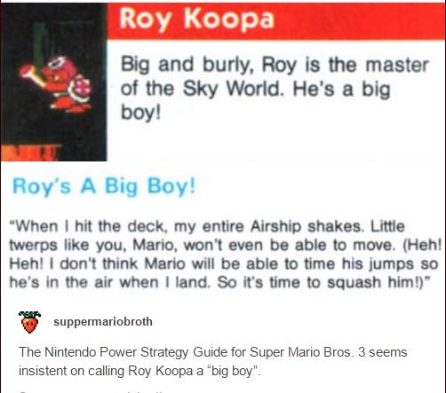 Big Boy Roy | Super Mario | Know Your Meme
