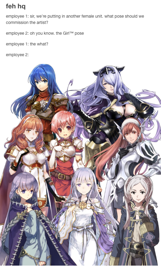 The Girl Pose Fire Emblem Heroes Know Your Meme