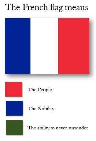 france loves to surrender flag color representation parodies
