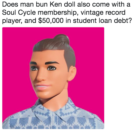 Does Man Bun Ken Doll Also Come With A Soul Cycle Membership