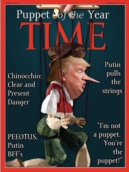 Puppet Of The Years Trump S Fake Time Cover Know Your Meme