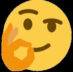 ok hand thinking emoji thinking face emoji know your meme