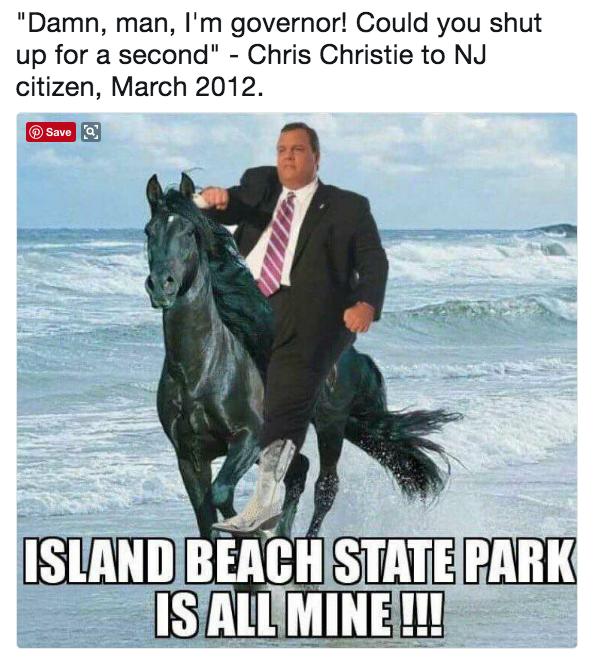 360 chris christie beach picture know your meme