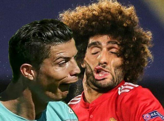 Marouane Fellaini Smashed Face Photo | Know Your Meme
