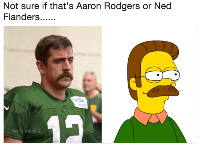 Not Sure If Thats Aaron Rodgers Or Ned Hedt ONFL MEMES